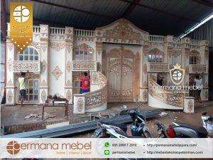 Backdoor Pelaminan Modern Sumatra Ukir Mewah